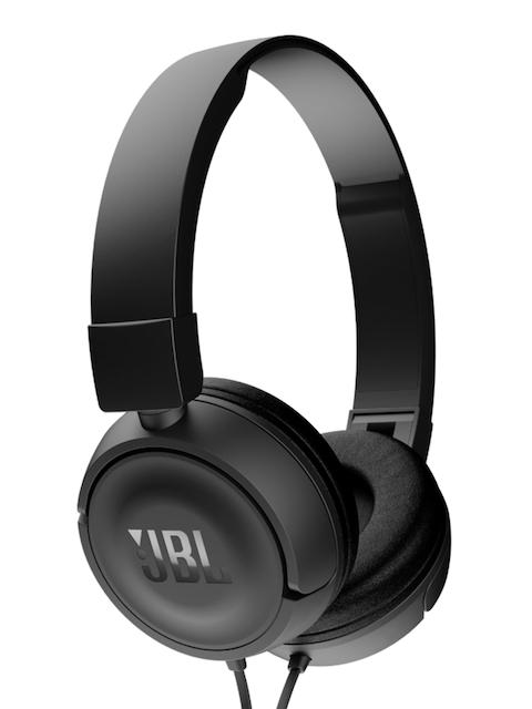 JBL Unisex Black Headphones with Mic T450