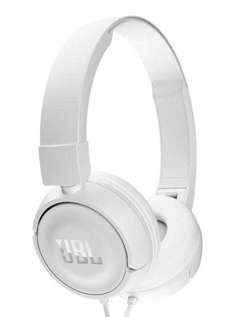 JBL Unisex White Headphones with Mic T450