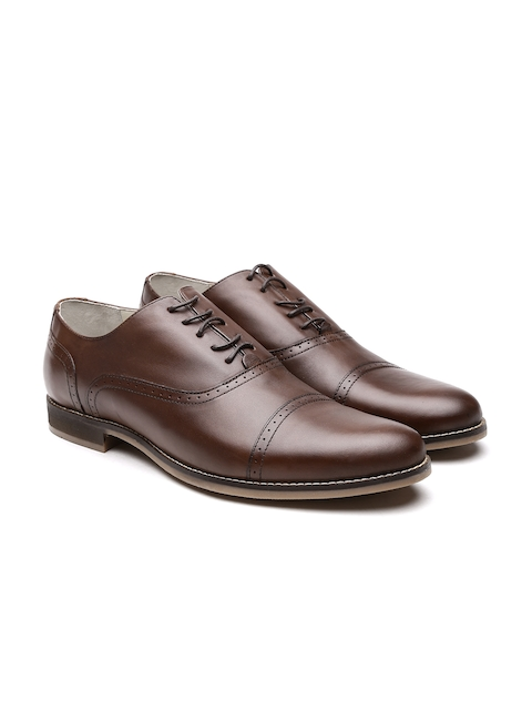 United Colors of Benetton Men Brown Genuine Leather Brogues