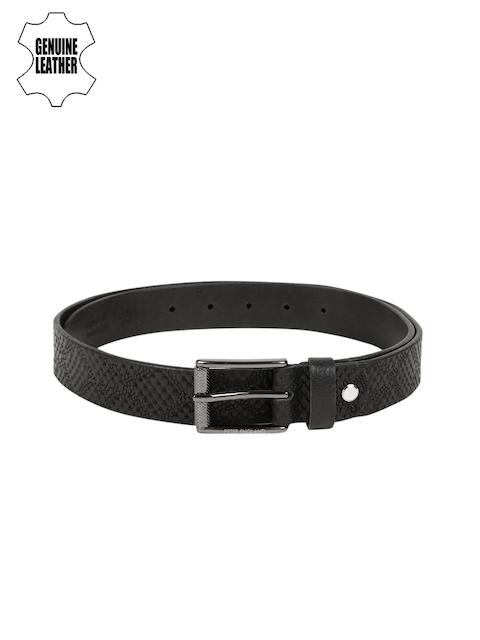 Peter England Statements Black Genuine Leather Belt