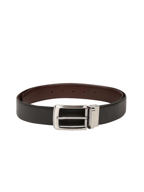 Peter England Statements Men Brown & Black Reversible Leather Belt