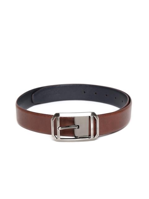 Peter England Statements Men Brown & Navy Reversible Genuine Leather Belt