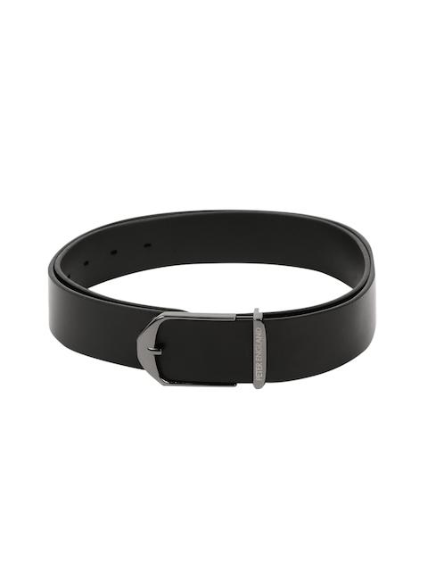 Peter England Men Black Leather Belt