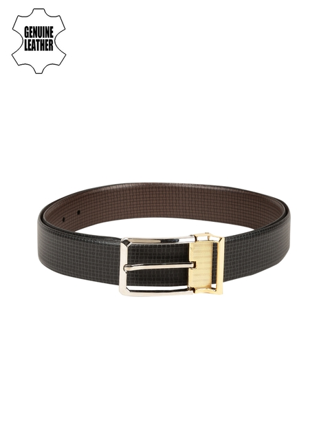 Peter England Statements Men Black Reversible Genuine Leather Belt