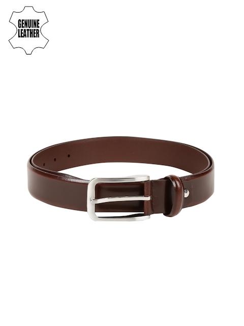 Peter England Statements Men Brown Genuine Leather Belt