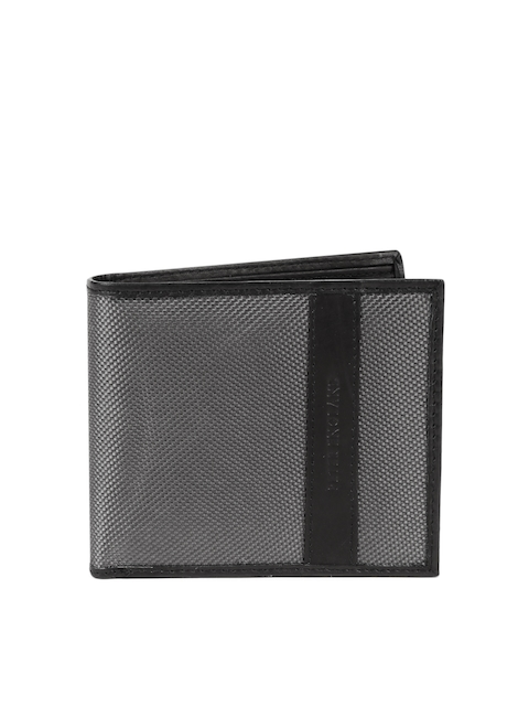 Peter England Statements Men Grey Textured Wallet