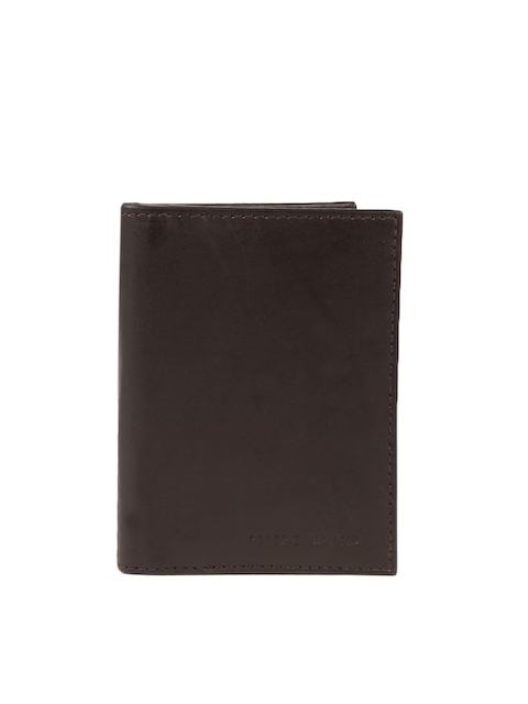 Peter England Statements Men Brown Genuine Leather Wallet  available at myntra for Rs.539