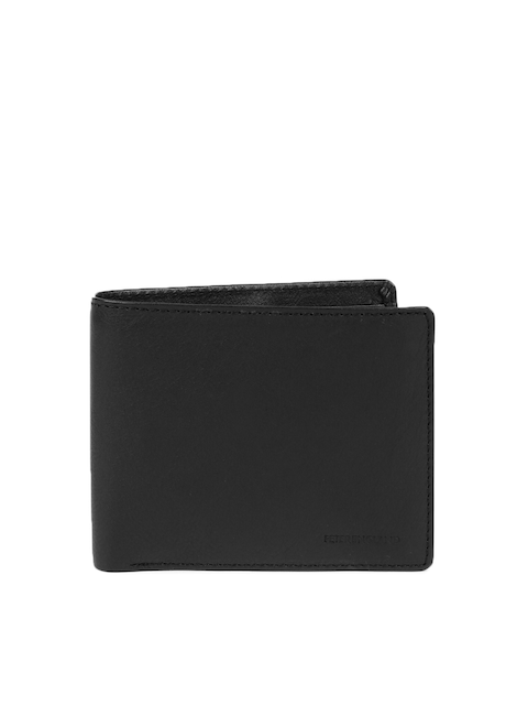 Peter England Statements Men Black Genuine Leather Wallet