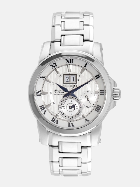 SEIKO Premier Men Silver-Toned Multifunction Dial Watch SNP091P1