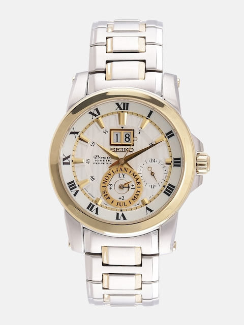 SEIKO Premier Men Silver-Toned Multifunction Dial Watch SNP094P1