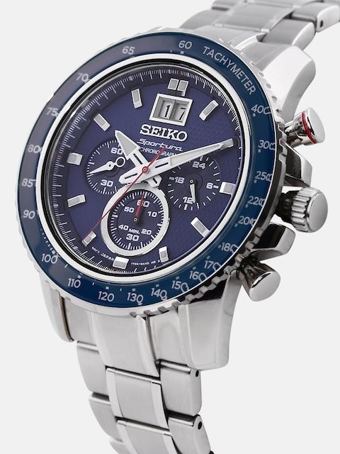 SEIKO Sportura Men Navy Textured Chronograph Dial Watch SPC135P1