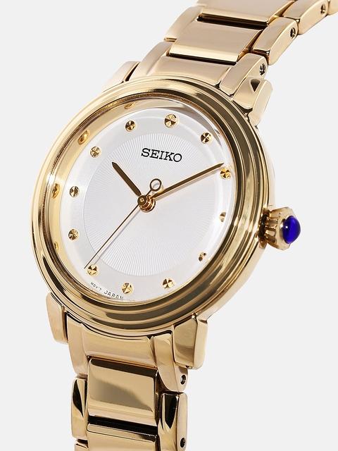 SEIKO Women Off-White Dial Watch SRZ482P1