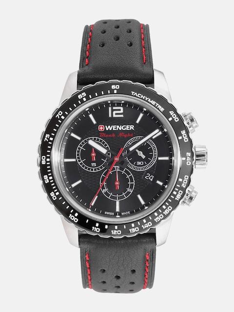 Wenger Roadster Night Men Black Swiss Chronograph Watch 01.0853.105