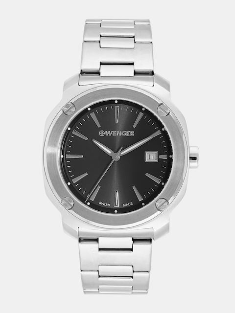 Wenger Edge Index Men Charcoal Grey Swiss Dial Watch 01.1141.109