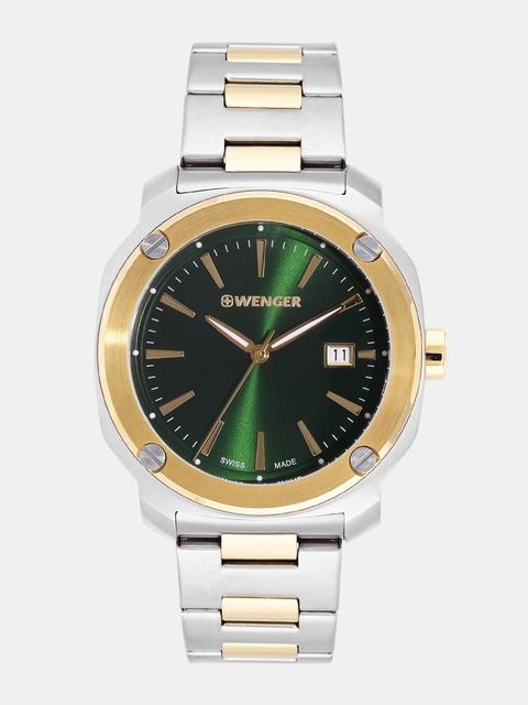 Wenger Edge Index Men Green Swiss Dial Watch 01.1141.117