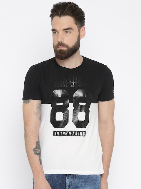 Being Human Clothing Men Black & White Printed T-shirt