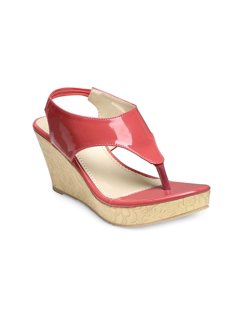 Nell Women Coral Pink Solid Sandals