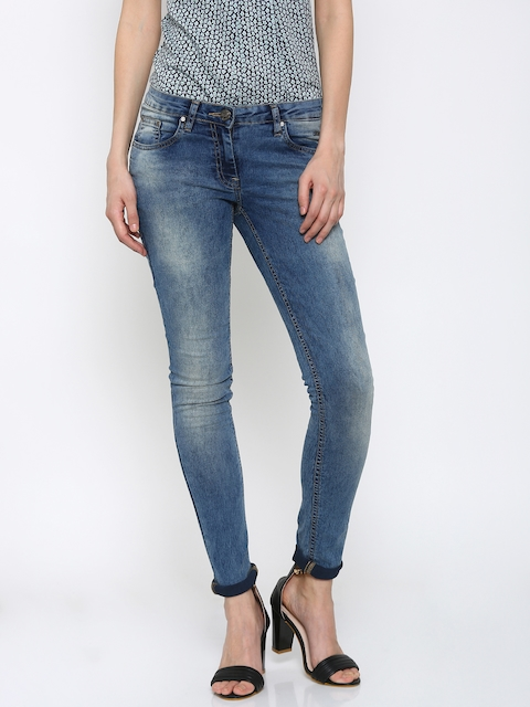 Park Avenue Women Blue Power Skinny Fit Stretchable Jeans