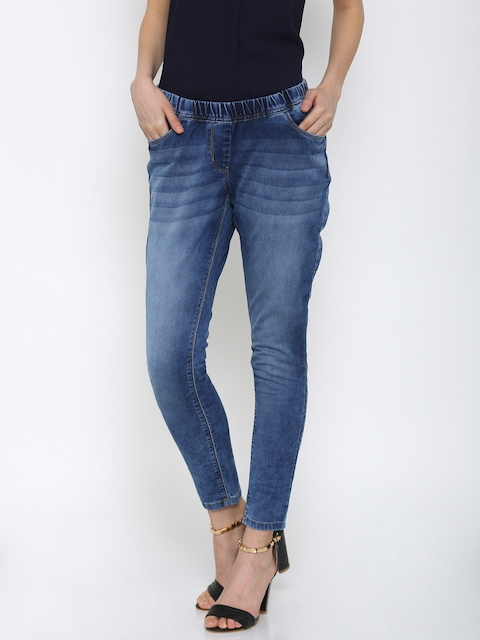 Park Avenue Women Blue Stretchable Jeans