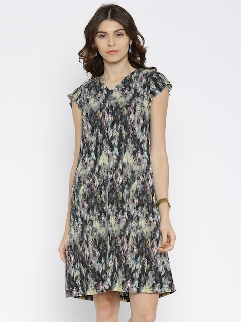 Park Avenue Women Multicoloured Printed A-Line Dress