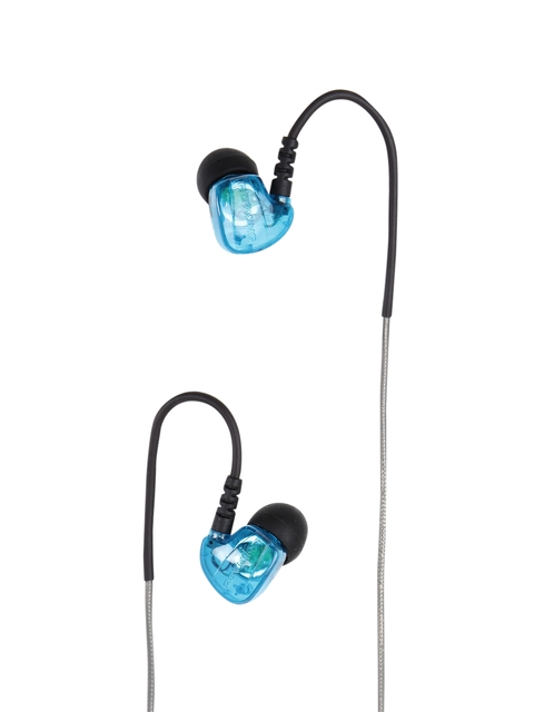 Rovking Black & Blue Wired Sports Earphones With Mic