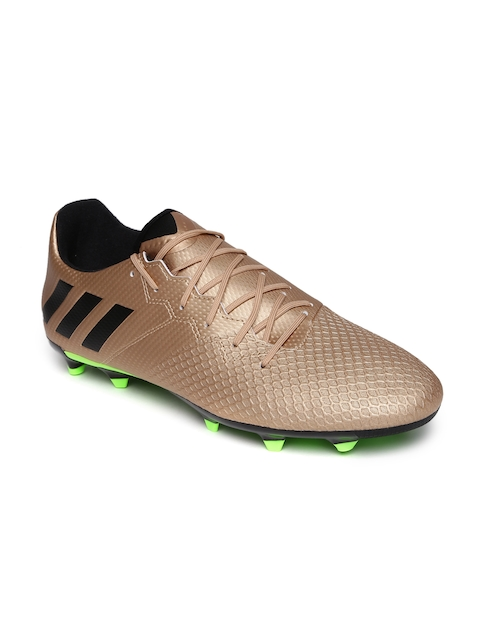 Adidas Men Muted Gold-Toned Messi 16.3 FG Football Shoes