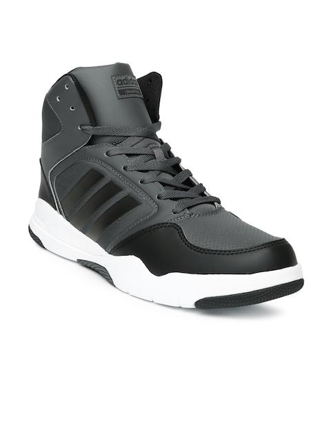Adidas NEO Men Black Perforated High-Top Sneakers