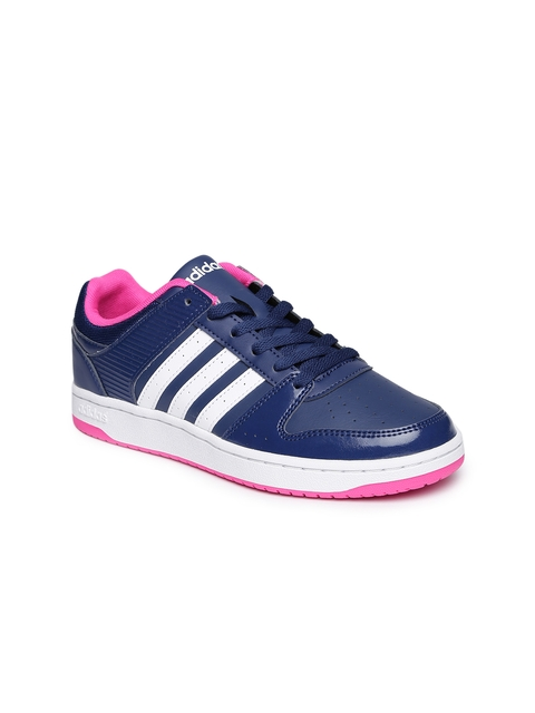 ADIDAS NEO Women Navy Perforated VS Hoopster Sneakers