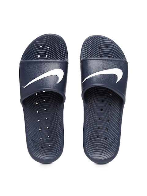 Nike Men Navy Kawa Shower Printed Flip-Flops