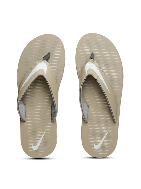 Nike Men Beige Chroma Thong 5 Flip-Flops