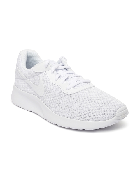 Nike Men White Tanjun Sneakers