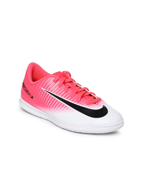 Nike Unisex Pink & White MERCURIALX VORTEX III Football Shoes  available at myntra for Rs.1238