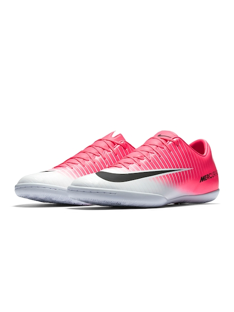 Nike Men Pink & White Football MERCURIALX VICTORY Shoes