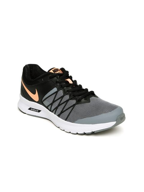 Nike Women Black & Grey Colourblocked Air Relentless 6 Running Shoes