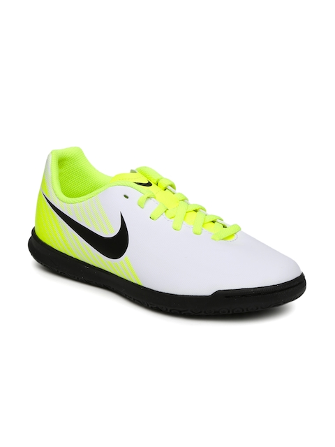 Nike Unisex White & Fluorescent Green JR Magistax Football Shoes  available at myntra for Rs.2021