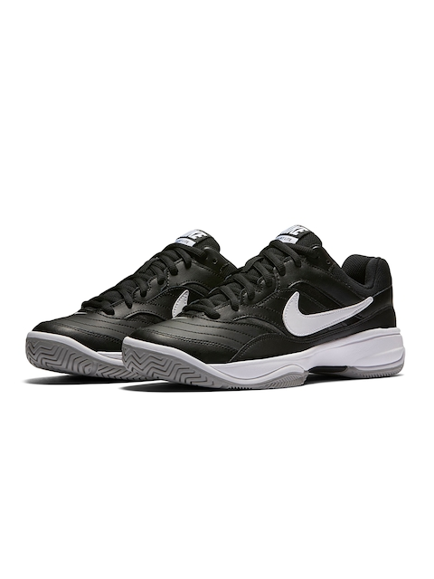 Nike Men Black Court Lite Tennis Shoes