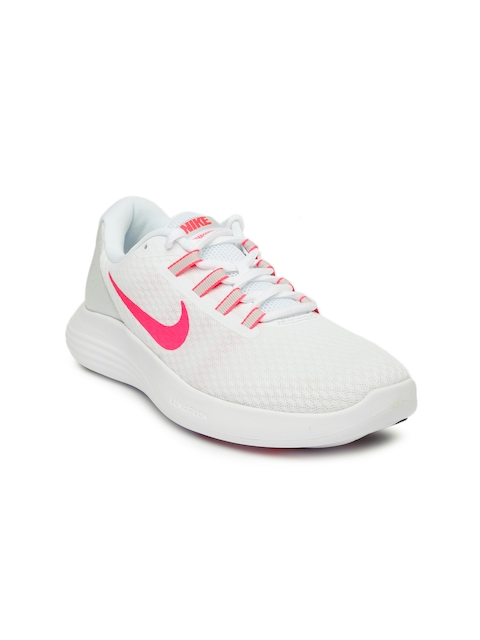 Nike Women White Running Shoes