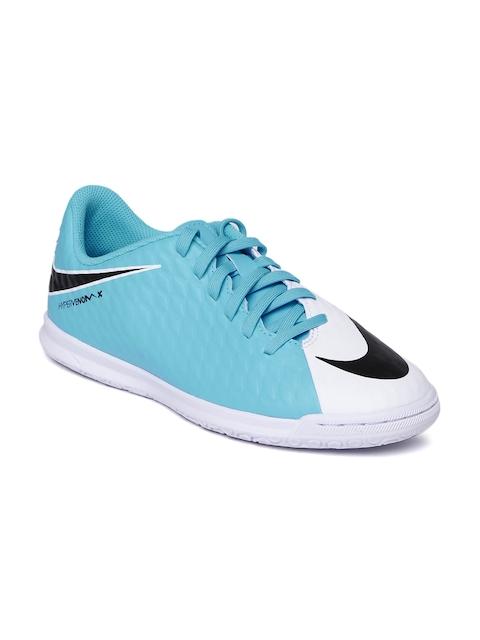 Nike Men White & Blue HYPERVENOMX PHELON III Football Shoes