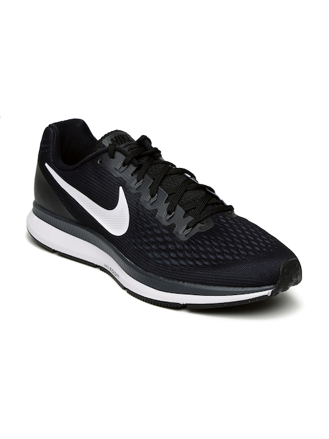 Nike Men Black Air Zoom Pegasus 34 Running Shoes