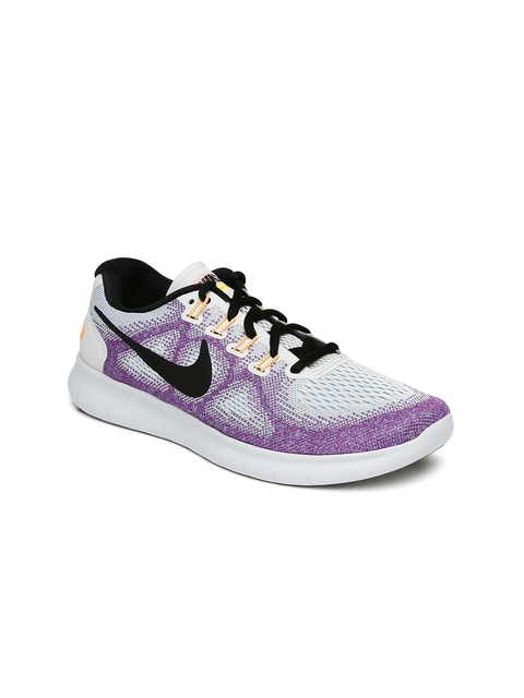 Nike Women Purple & White Free Running Shoes