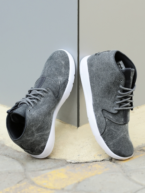 Nike Men Charcoal Grey Jordan Eclipse Chukka Mid-Top Sneakers