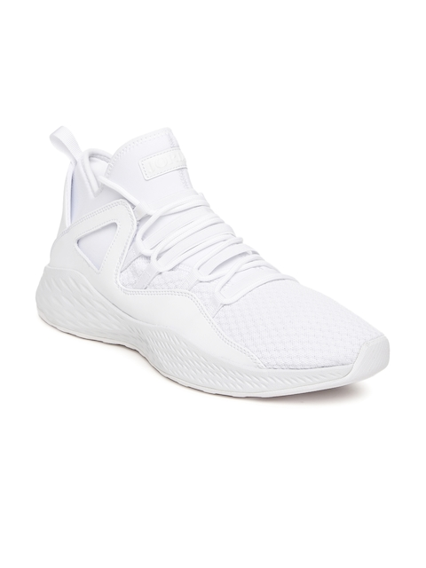 Nike Men White Mid-Top Jordan Formula 23 Basketball Shoes