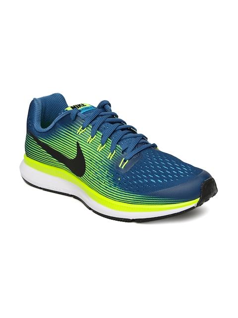 Nike Boys Blue ZOOM PEGASUS 34 (GS) Running Shoes