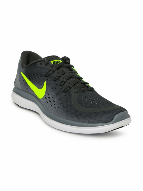 Nike Men Black & Grey Flex 2017 Running Shoes