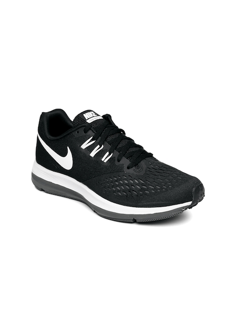 Nike Women Black Zoom Winflo 4 Running Shoes