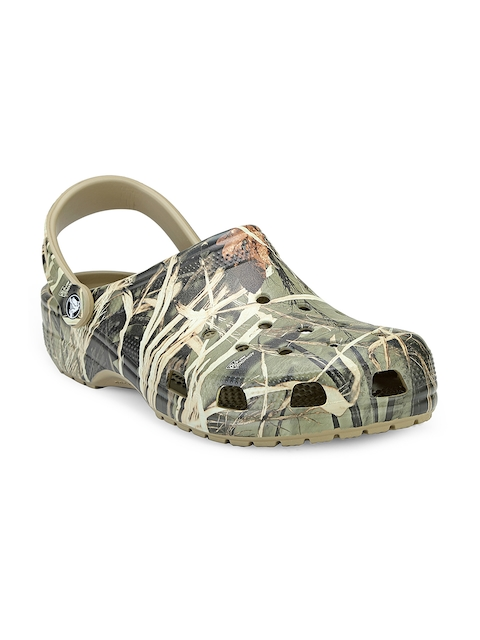 Crocs Men Khaki Camouflage Print Clogs