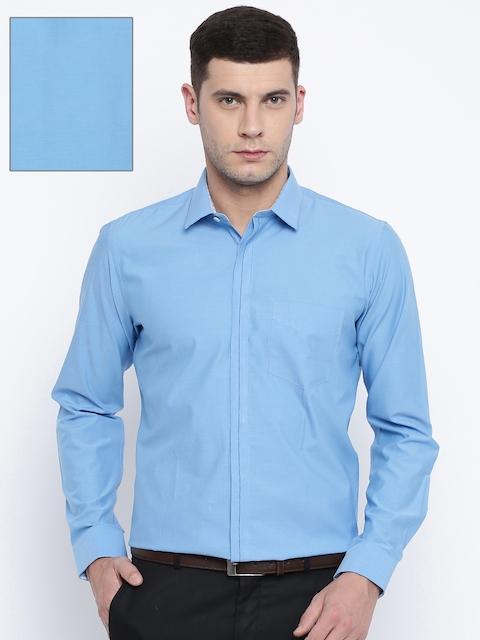 Van Heusen Blue Slim Fit Solid Formal Shirt