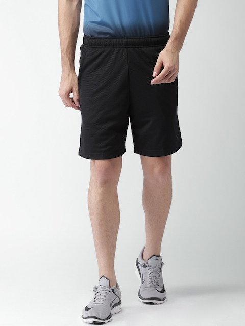 Nike Men Black AS 9IN Monster Mesh Self-Design Sports Shorts
