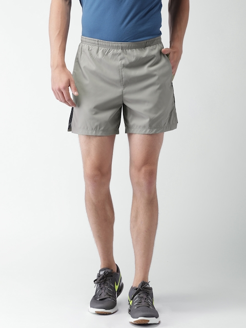 Nike Men Grey AS FLX CHLLGR 5IN Solid Sports Shorts  available at myntra for Rs.678