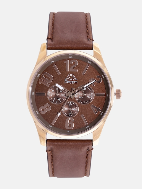 Kappa KP-1420M-B Brown Dial Analog Men's Watch (KP-1420M-B)